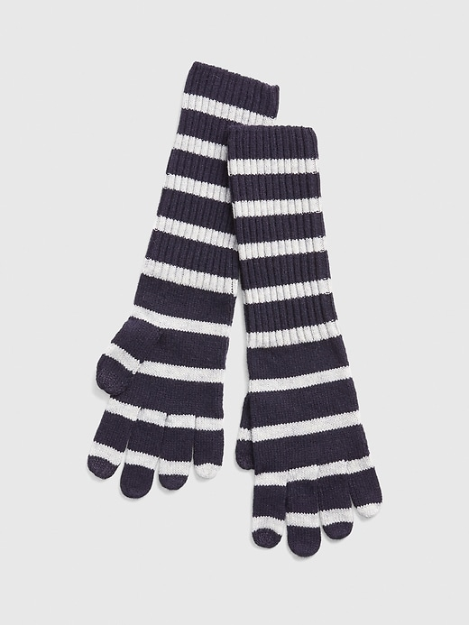 Cozy Stripe Smartphone Gloves