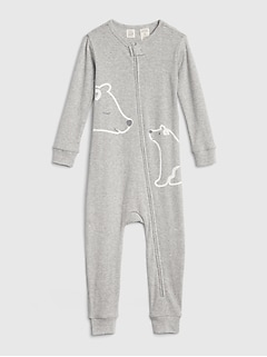 babyGap Organic Cotton Bear Pj One-Piece