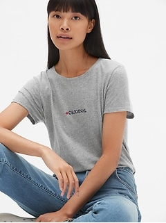 Embroidered Logo Crewneck T-Shirt