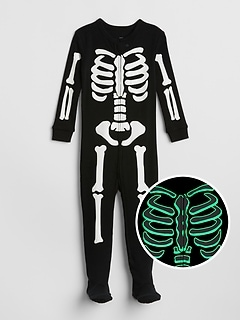 Glow-in-the-Dark Footed One-Piece