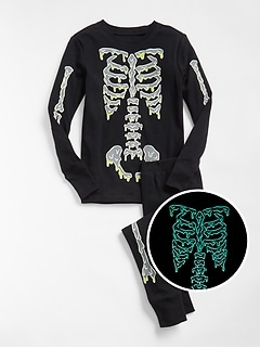 Glow-in-the-Dark Skeleton PJ Set