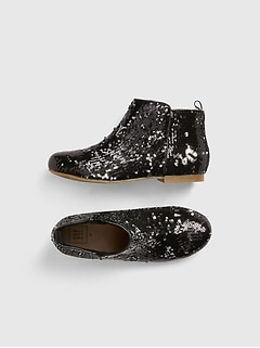 Sequin Ankle Booties