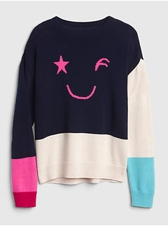 Wink Colorblock Pullover Sweater