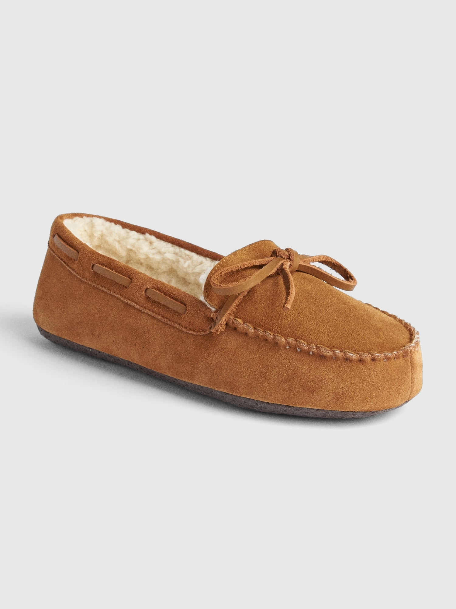 Suede Moccasin Slippers Gap