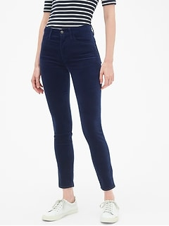 High Rise True Skinny Ankle Jeans in Velvet
