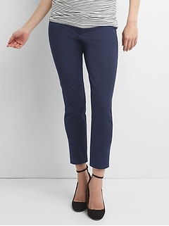 Maternity Inset Panel Skinny Ankle Pants in Bi-Stretch