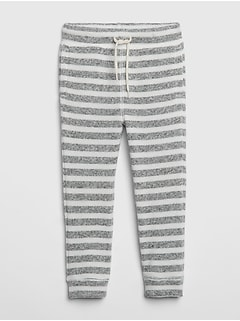 Stripe Pull-On Pants in Fleece