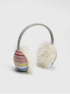 Cozy Crazy Stripe Earmuffs