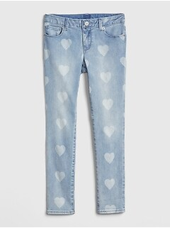 Superdenim Heart Super Skinny Jeans with Fantastiflex