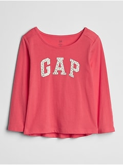 Gap Logo Glitter Long Sleeve T-Shirt