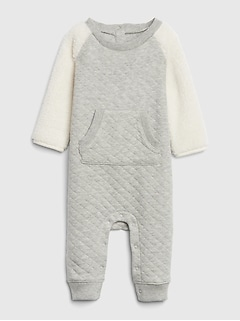 Quilted Sherpa One-Piece