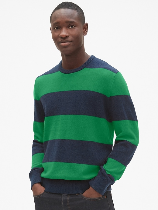 Cozy Classic Rugby Stripe Sweater by Gap