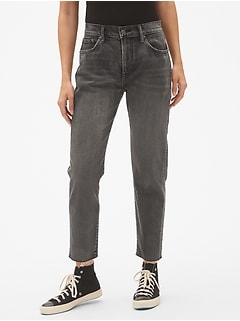High Rise Best Girlfriend Jeans with Raw Hem