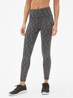 GapFit High Rise Blackout Spacedye Full Length Leggings