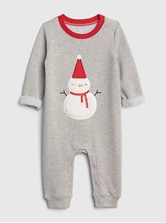 Cozy Holiday Applique One-Piece