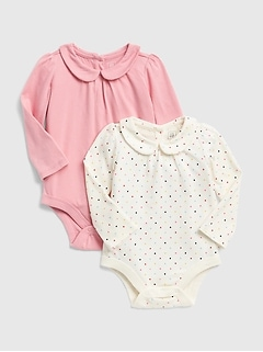 Peter Pan Collar Bodysuits (2-Pack)