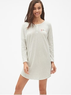 Forever Favorite Henley Sleep Shirt