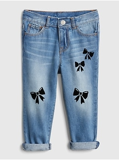 Bow Girlfriend Jeans
