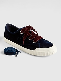 Gap &#124 Tretorn&#174 Marley Velvet Lace-Up Sneakers