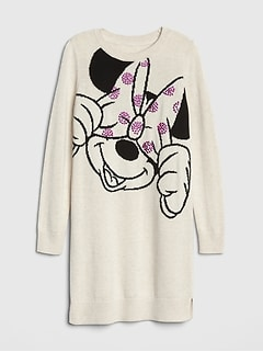 GapKids &#124 Disney Minnie Mouse Studded Sweater Dress
