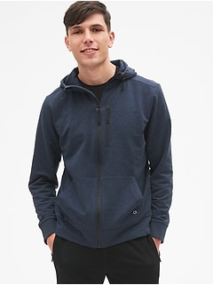 GapFit All-Elements Fleece Full-Zip Hoodie