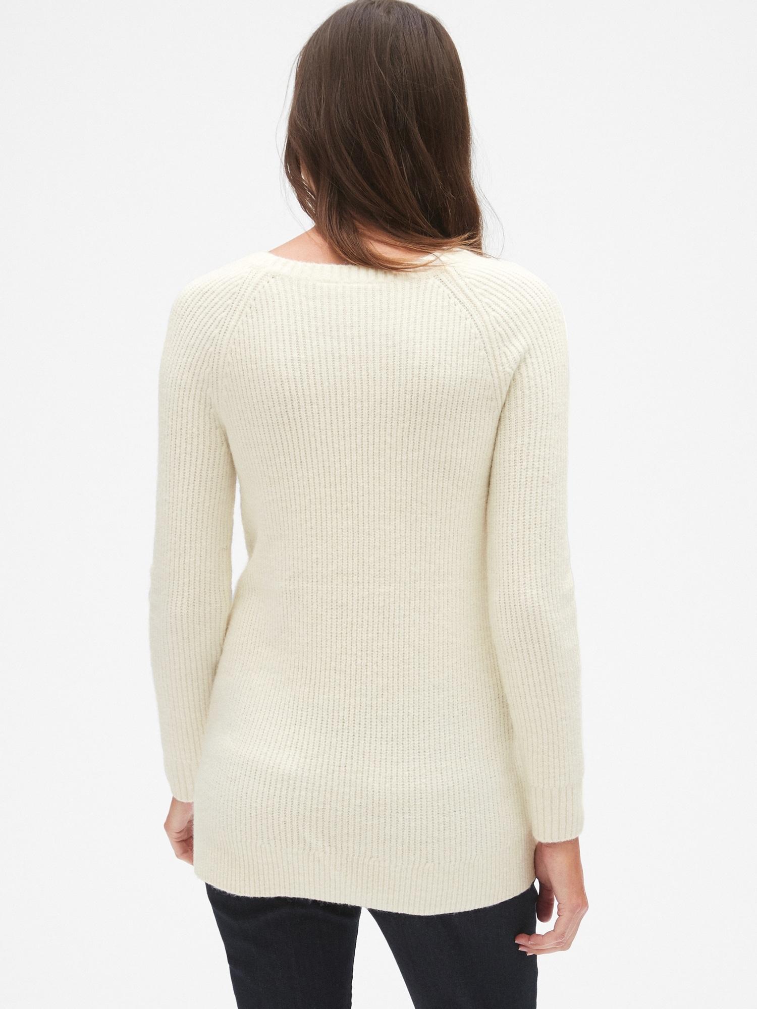 a17313a0f Maternity Side Lace-Up Sweater Tunic