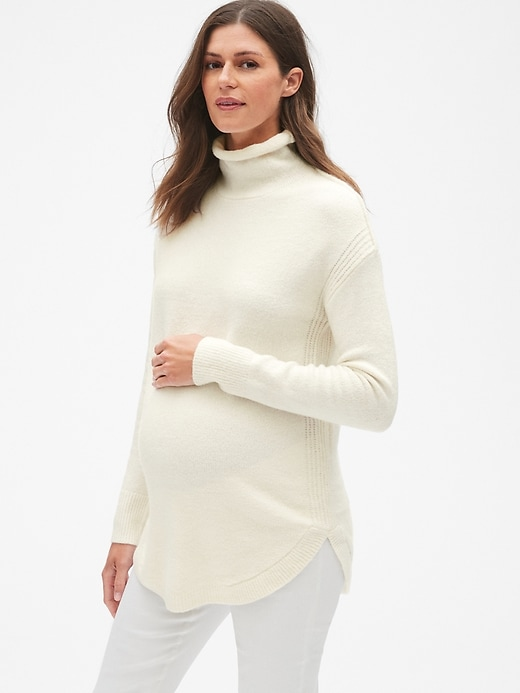 Maternity Turtleneck Pullover Sweater