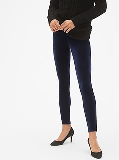 High Rise Velvet Leggings