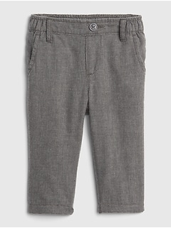 Baby Twill Jersey-Lined Pants