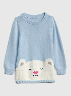 Toddler Bear Graphic Sweater