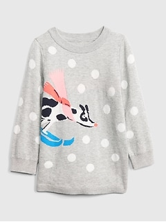 Toddler Ski Dog Tunic Sweater