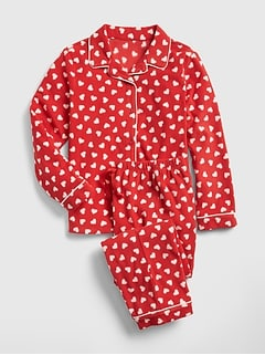 Heart PJ Set in Fleece