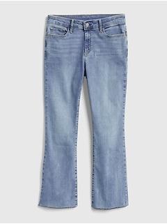 Mid Rise Crop Kick Jeans