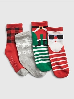 Holiday Crew Socks (4-Pack)