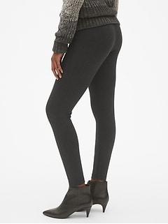 Sculpt High Rise Ankle-Zip Leggings in Ponte