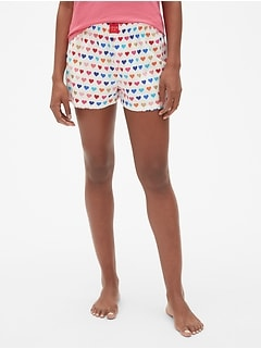 Dreamer Print Flannel Shorts