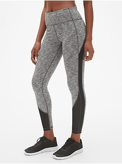 GapFit Blackout Spacedye Mesh-Insert Full Length Leggings