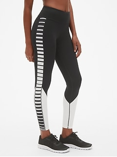 GapFit Stripe Panel Leggings in Sculpt Compression