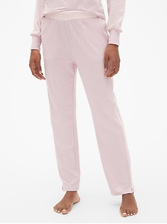 Velour-Trim Lounge Pants