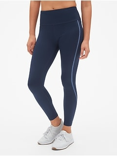 GapFit Winterbrush High Rise Reflective Stripe Full Length Leggings