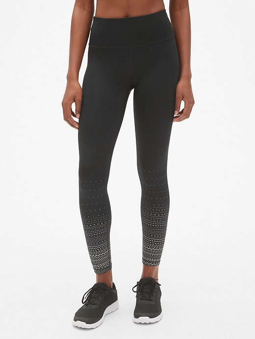 GapFit Winterbrush High Rise Reflective Print Full Length Leggings