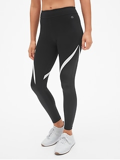 GapFit Blackout Shine Spliced Full Length Leggings
