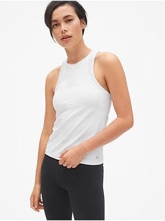 GapFit Spliced Mesh Shelf Tank Top