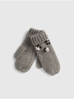 Floral Sequin Mittens