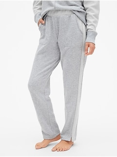 Side-Stripe Fleece Pants