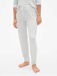 Metallic Speckled Side-Stripe Pants in Modal