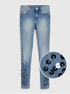 Superdenim Sequin Super Skinny Jeans with Fantastiflex