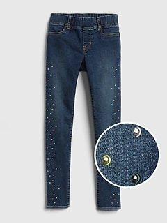 Superdenim Gem-Studded Jeggings with Fantastiflex