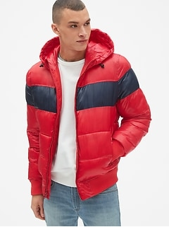 Heavyweight Colorblock Hooded Puffer Jacket