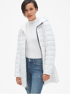 Lightweight Hooded Puffer Coat